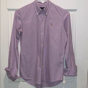 Lavender Ralph Lauren Oxford Shirt
